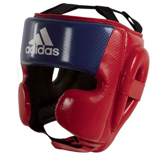 Adidas Hybrid Sparring Headguard - Red/Blue